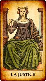 Carte de Tarot « La Justice »