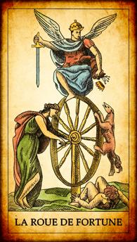Carte de Tarot « La Roue de Fortune »