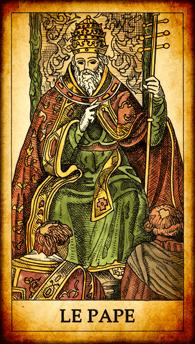 Carte de Tarot « Le Pape »