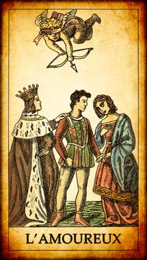 Carte de Tarot « L'Amoureux »