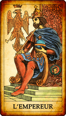 Carte de Tarot « L'Empereur »