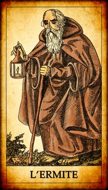 Carte de Tarot « L'Ermite »