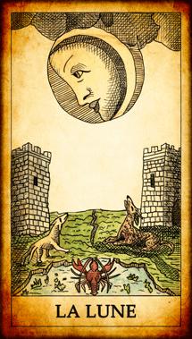 Carte de Tarot « La Lune »