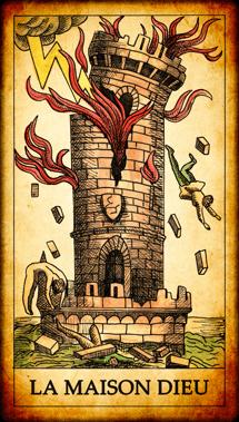 Carte de Tarot « La Maison Dieu »