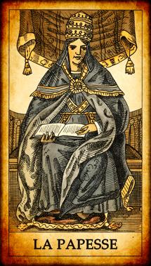 Carte de Tarot « La Papesse »