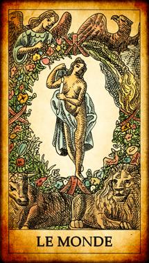 Carte de Tarot « Le Monde »