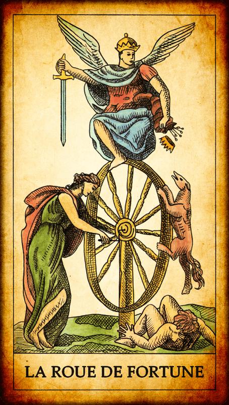 5793dd96923a6b Carte du Tarot. « Quelle chance ! Côté santé, la Roue de Fortune est de  très bon augure ! D excellents mois vous attendent, avec une forme  exceptionnelle, ...