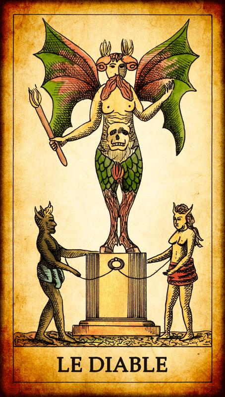 Carte Tarot Diable.Carte De Tarot Le Diable